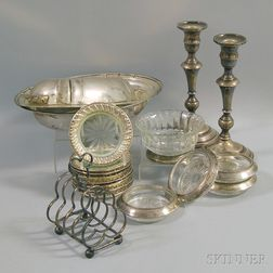 Group of Mostly Sterling Silver and Silver-mounted Tableware