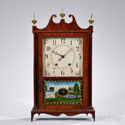 E. Terry & Son Pillar and Scroll Shelf Clock