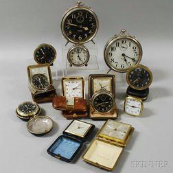 Fifteen Small Alarm Clocks