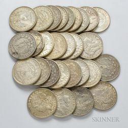Twenty-nine Morgan Dollars