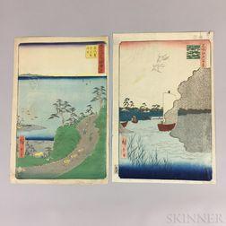 Six Utagawa Hiroshige (1797-1858) Woodblock Prints
