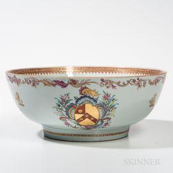 Armorial Export Porcelain Punch Bowl