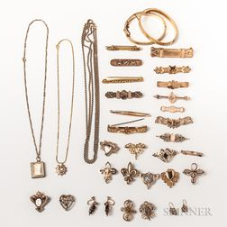 Group of Antique Gold-filled Jewelry