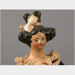 Papier-mache Shoulder Head Doll with Apollo Knot