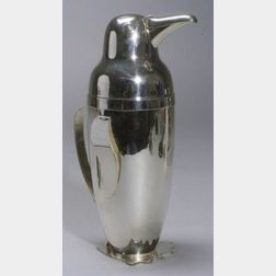 Chrome Napier Penguin Cocktail Shaker