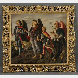 After Francesco Botticinni (Italian, 1446-1497)      The Three Archangels with Tobias