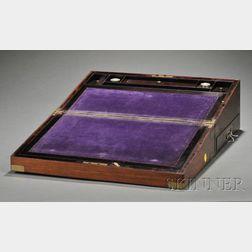 Victorian Brass-bound Rosewood Lap Desk