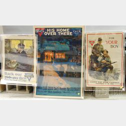 Three WWI YMCA/YWCA Lithograph Posters