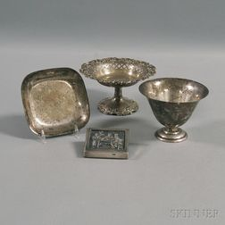 Four Assorted Silver Articles