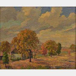 Jacob Greenleaf (American, 1887-1968)      Autumn Landscape