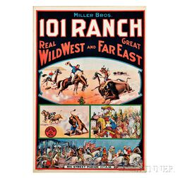 Framed Miller Bros. 101 Ranch Wild West Show Poster