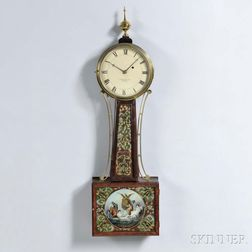 """Aaron Willard Jr."" Timepiece or ""Banjo"" Clock"
