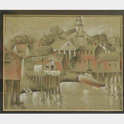 American School, 20th Century      Wharf and Village