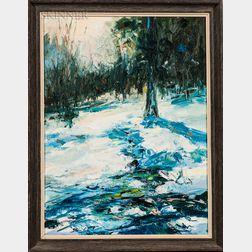 Peter Hamlett (American, 1919-1972)    First Winter at Van Duzer