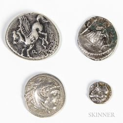 Four Greek and Phoenician Coins