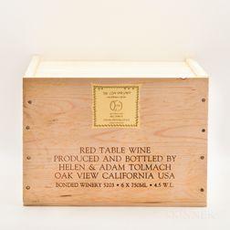 Ojai Vineyard Roll Ranch Syrah Special Bottling Lot E.H. 1998, 6 bottles (owc)