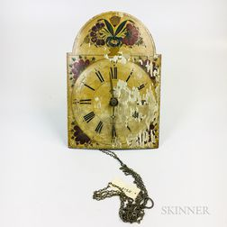 Floral-decorated Wag-on-the-Wall Clock