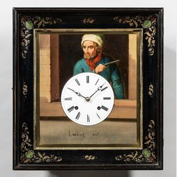 Augenwender or Moving Eye Wall Clock