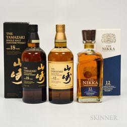 Mixed Japanese, 2 750ml bottles 1 70cl bottle