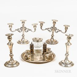 Group of Sterling Silver and Weighted Tableware