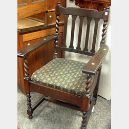 Stickley Bros. Quaint Furniture Mahogany Armchair