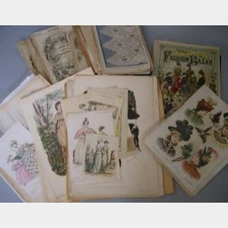 Large Lot of Fashion Plates and Godey's Lady's Books