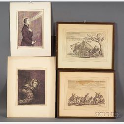 Lot of Approximately Twenty-five Old Master Prints: Including Works By or After Jacques Callot (French, 15...