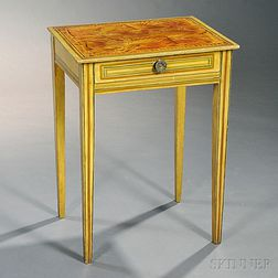 Yellow Paint-decorated One-drawer Stand