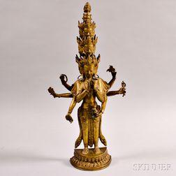 Metal Alloy Figure of a Buddhist Deity