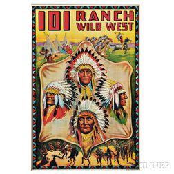 Framed 101 Ranch Wild West Poster