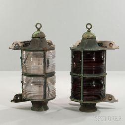 Pair of Brass Nautical Post Lights