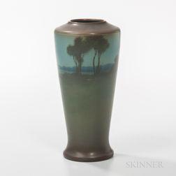 Lenore Asbury for Rookwood Pottery Vellum Landscape Vase