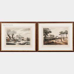 James Godby (English, 19th Century) and Henri Merke (Swiss, 19th Century), After Samuel Howitt (English, 1765-1822)  Two Fram...