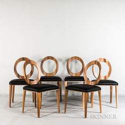 "Six Enzo Berti for Bross Italia ""Gemma 1611"" Side Chairs"