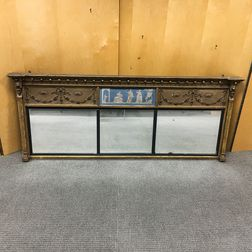 Neoclassical Carved and Gilt Overmantel Mirror