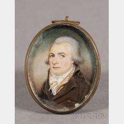 Portrait Miniature of Joseph Pease (1772-1802) of Pawtucket, Rhode Island