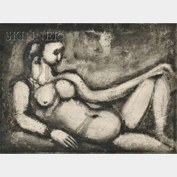 Georges Rouault (French, 1871-1958)      Courtisane nue