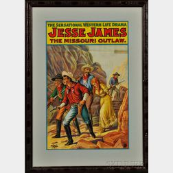 Framed Jesse James Western Drama Poster