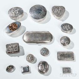 Eleven Silver Boxes