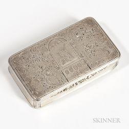 French .950 Silver Snuffbox