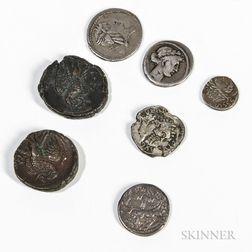 Seven Roman Coins