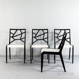 """Four Domitalia """"Fusto Faggio"""" Side Chairs"""