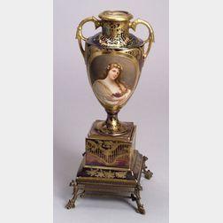 Vienna Porcelain Portrait Vase