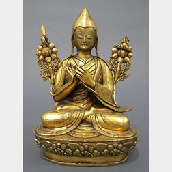 Gilt-bronze Portrait of Lama