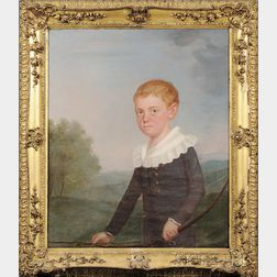 Matthew Harris Jouett (Kentucky, 1788-1827)      Portrait of Joseph Archibald Logan, Aged Eight.