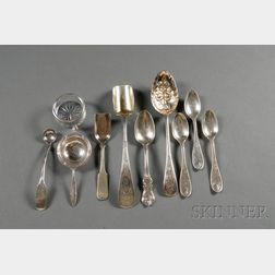 Small Group of American Sterling and Coin Silver