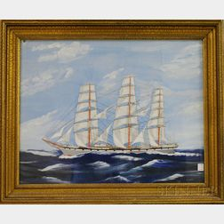 American School, 19th/20th Century      Portrait of the Ship SUNBEAM.