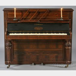 Victorian Rosewood Cased Upright Piano