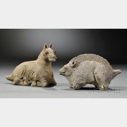 Two Ceramic Animals