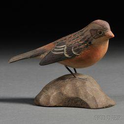 Jess Blackstone Miniature Carved and Painted Field Sparrow Figure